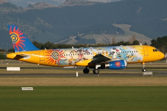A320 pintado con los Looney Tunes