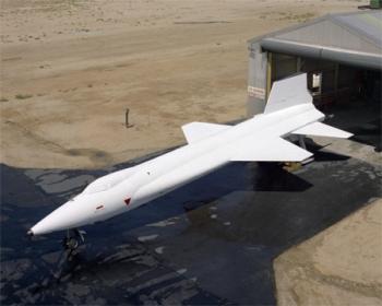 X-15 con un recubrimiento térmico