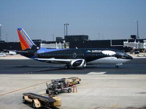 B-737 decorado con Flying Shamu