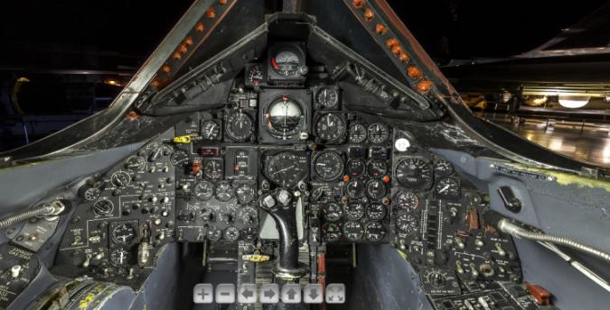 Vista desde el cockpit de un SR-71.