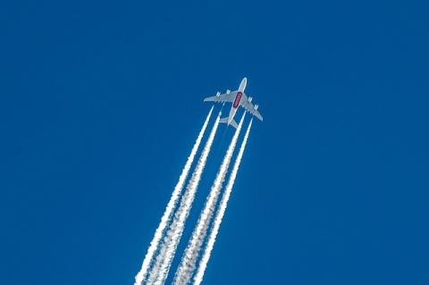A380 de Emirates a 39 000 pies de altura