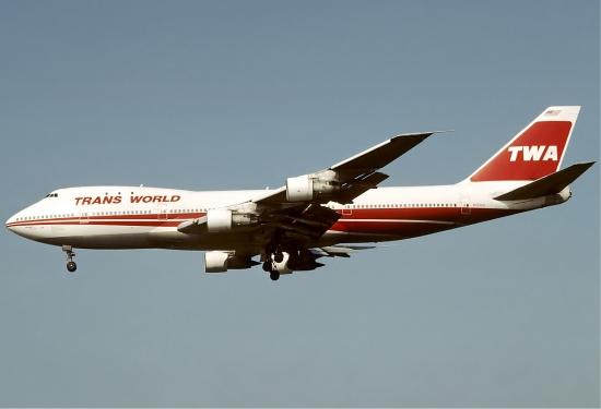 Un Boeing 747 de TWA