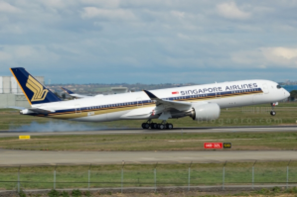 Primer vuelo del segundo A350 para Singapore Airlines, también en Toulouse