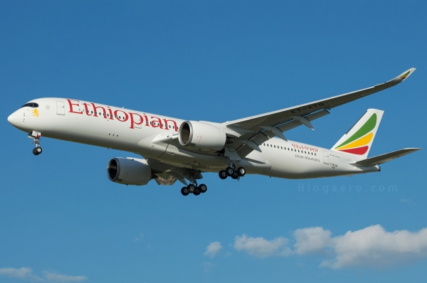 Primer vuelo del primer A350 para Ethiopian airlines