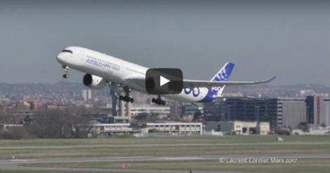 A350-1000 y su despegue con fallo demotor